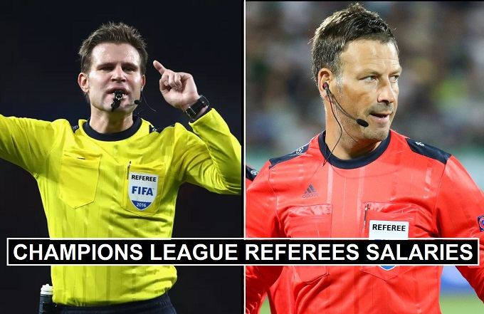 Champions League Referees Fees 2020