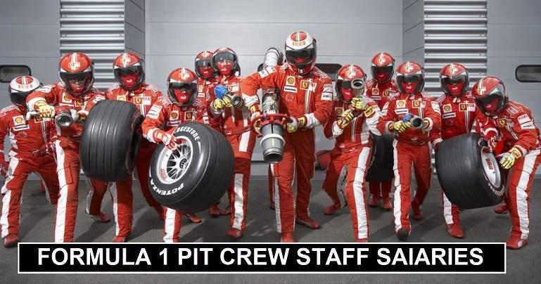 F1 Pit Crew Staff Salaries 2020