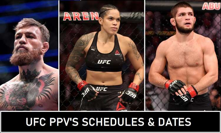 UFC Schedule PPV's Dates 2020 Announced