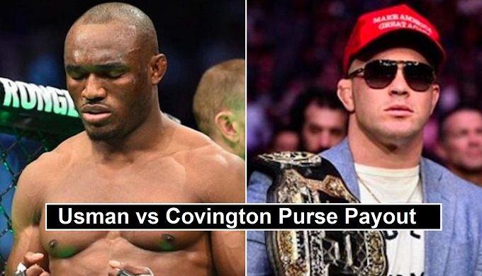 UFC 245 USMAN vs Covington Salaries