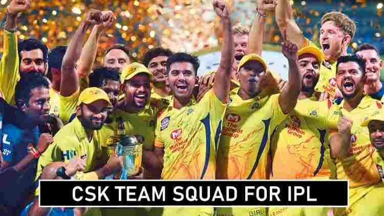 Chennai Super Kings IPL Squad Players