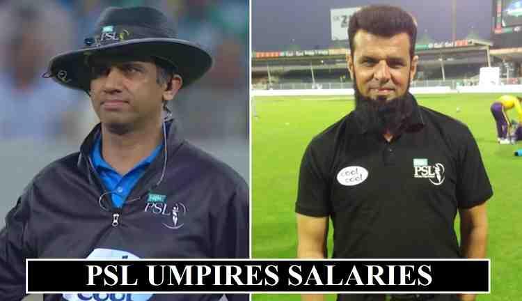 PSL Umpires Salaries