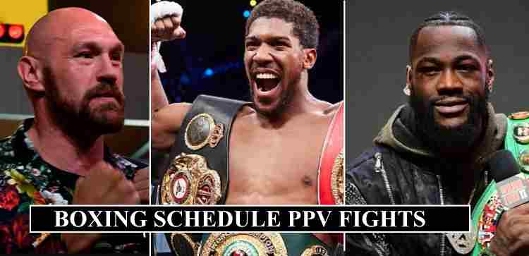 Boxing Schedule 2020 Upcoming Ppv Fights Dates Confirmed