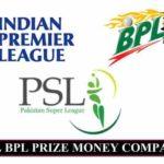 IPL PSL BPL Prize