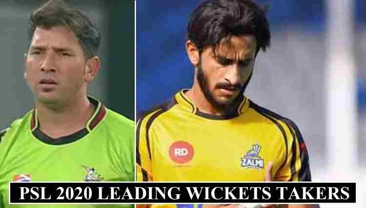 PSL 2020 Most Wickets Taker