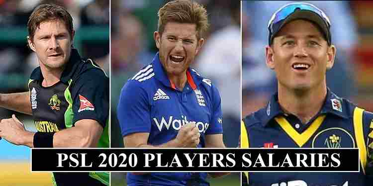 PSL 2020 Players Salaries