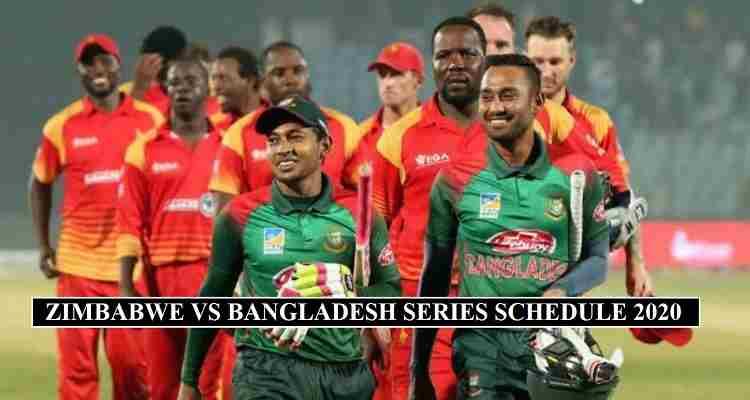 Bangladesh Zimbabwe Schedule