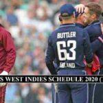 England West Indies Schedule 2020
