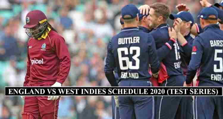 England West Indies Schedule 2020