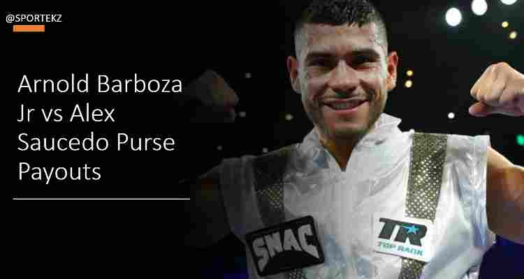 Barboza Jr Saucedo Purse Payouts