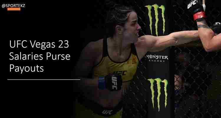 UFC Vegas 23 Salaries