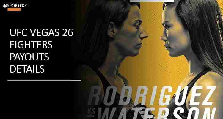 UFC Vegas 26 Salaries